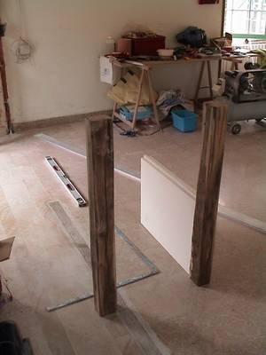 r alisation d 39 un meuble uniquement de la r cup ration de vieux bois la maison des nugues. Black Bedroom Furniture Sets. Home Design Ideas