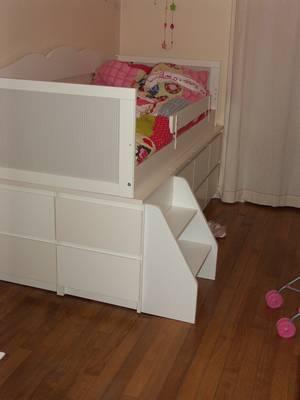 R alisation d 39 un lit pour enfant mobilier ikea la maison des nugues - Lit caisson rangement ...